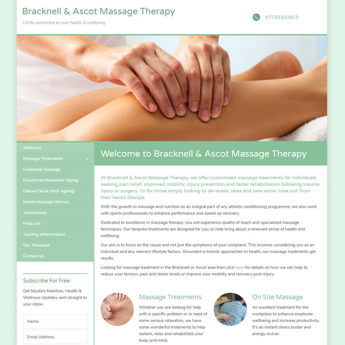 bracknellandascotmassagetherapy