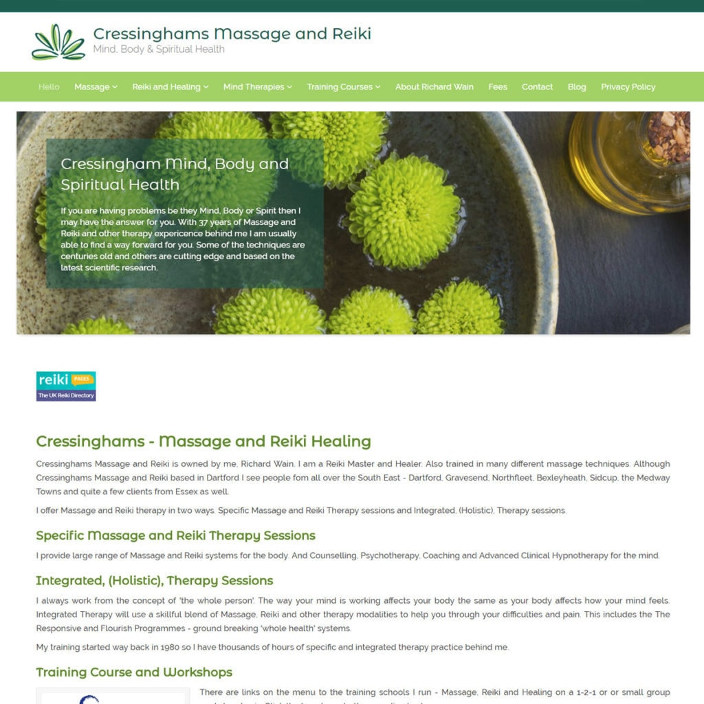 Website Design For Holistic Therapists