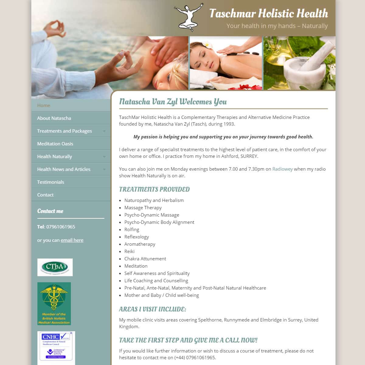 Taschmar Holistic Health - HealthHosts - Web Design for Therapists