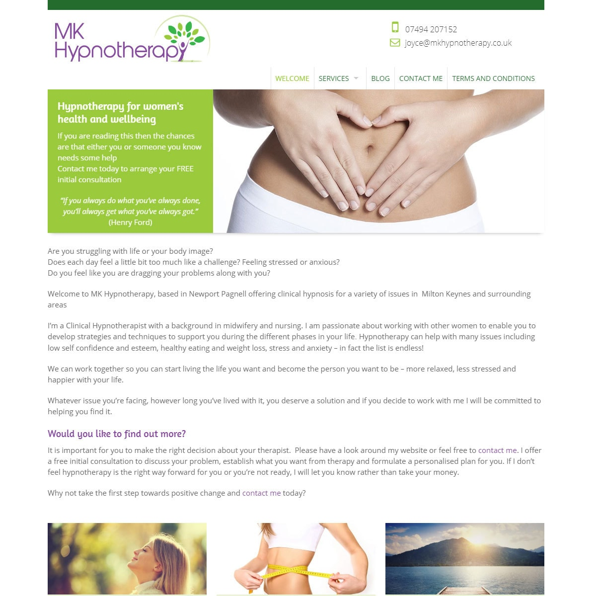 Hypnotherapy Website Design - HealthHosts - Websites for Therapists