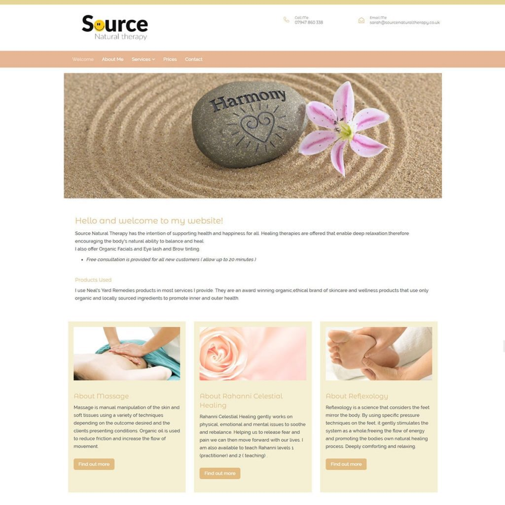 Beauty Therapy Website Design - HealthHosts - Websites for Therapists