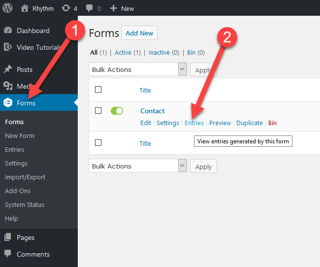 Resend Form Notifications