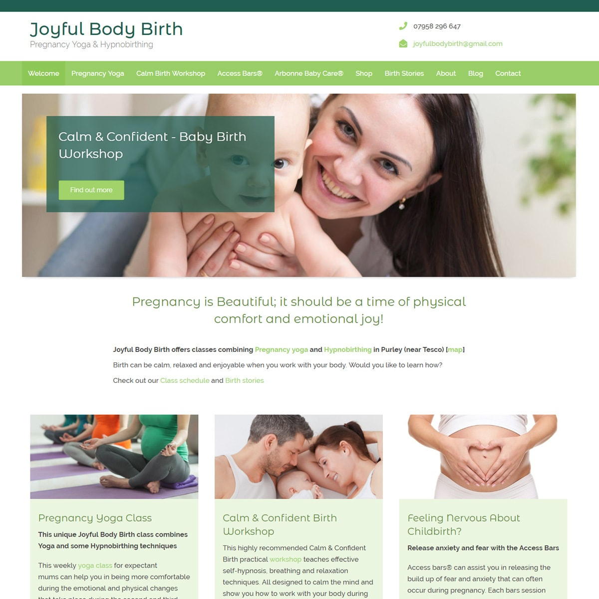 Hypnobirthing Website Design - HealthHosts - Websites for Therapists