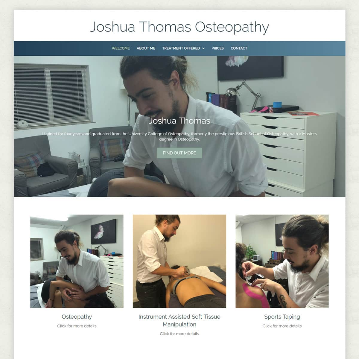 Osteopathy Website Design - HealthHosts - Websites for Therapists