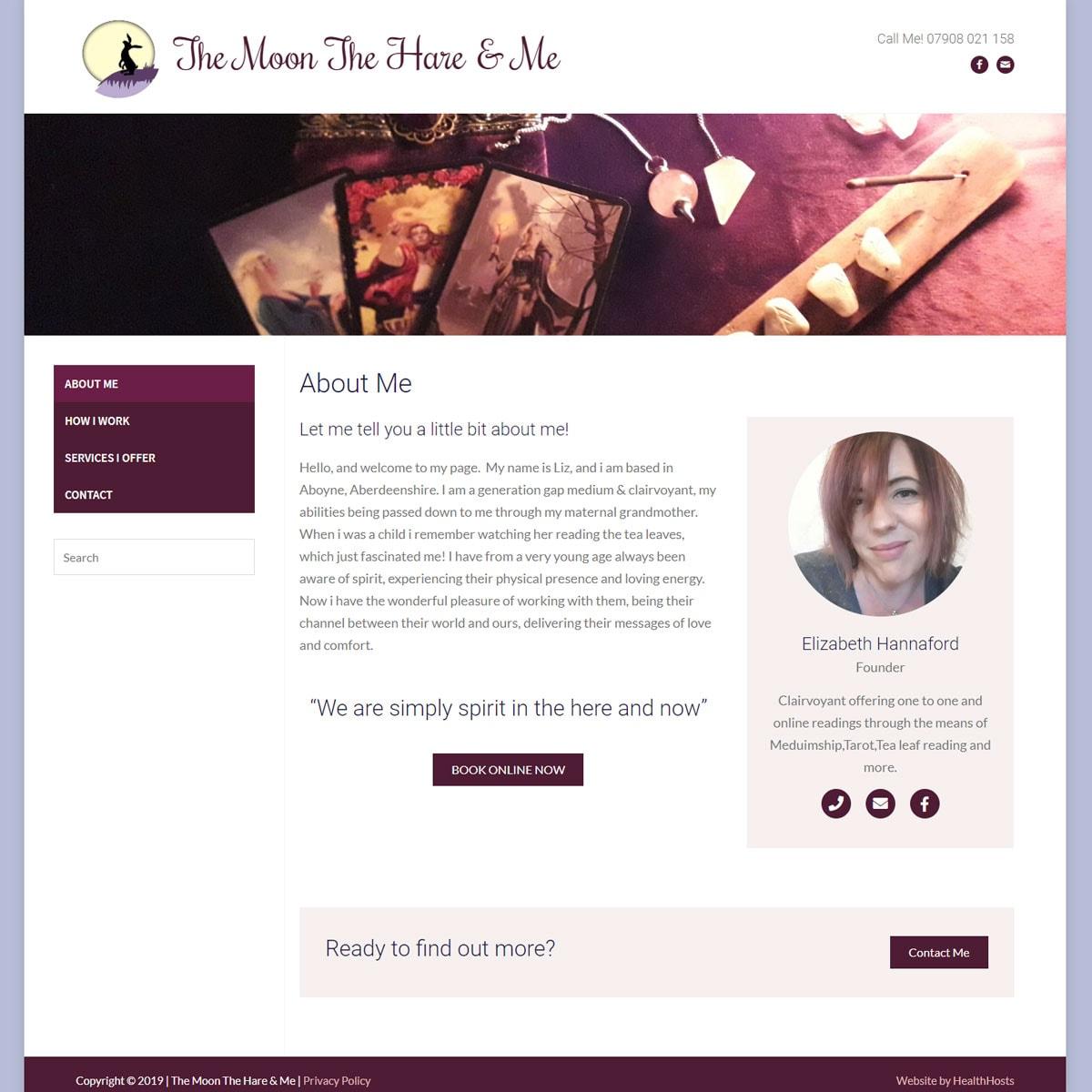 Medium / Psychic Website Design - HealthHosts - Websites for Therapists