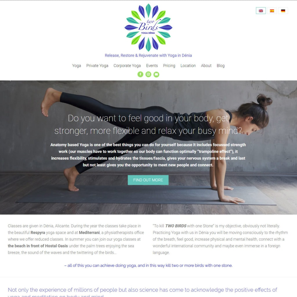 Yoga Website Design - HealthHosts - Websites for Therapists