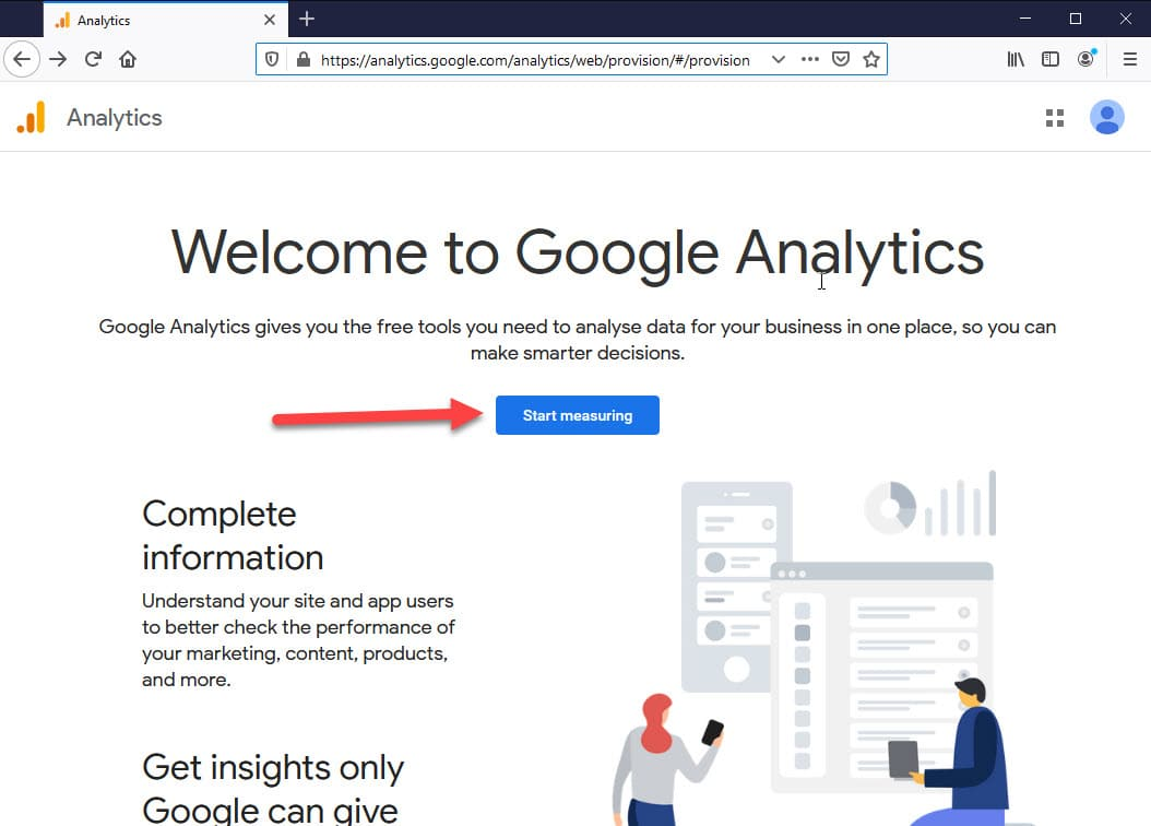 start measuring analytics