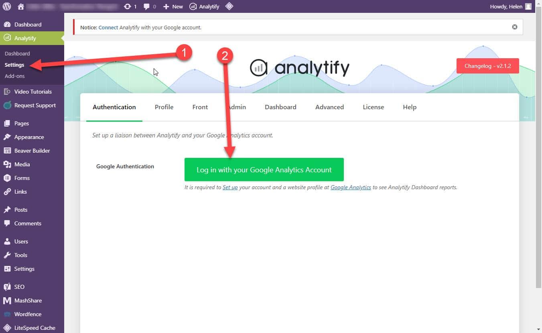 login to analytics