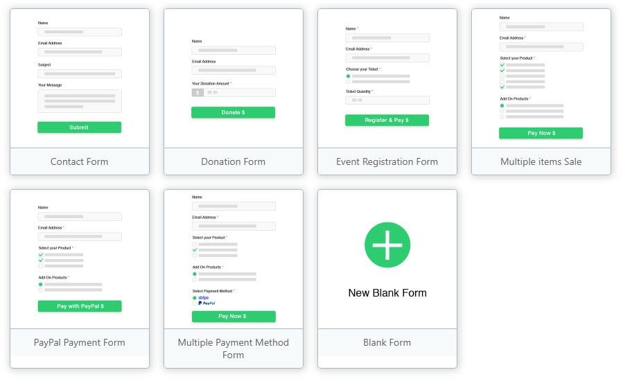 Pre-Built Payment Forms